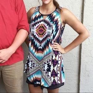 Vibrant Tribal Print Dress